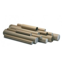 Brown Postal Tubes with Plastic End Caps